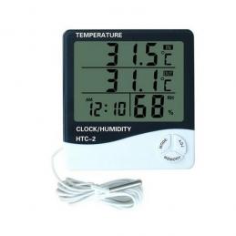 Termohigrometru cu ceas si 2 temperaturi