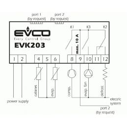 Termostat digital EVK203 cu 2 sonde si 3 contacte